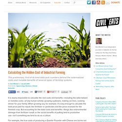 Calculating the Hidden Cost of Industrial Farming