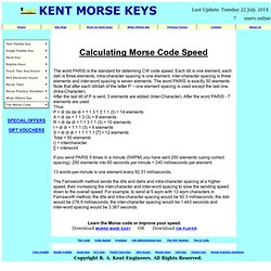 Calculating Morse Code Speed