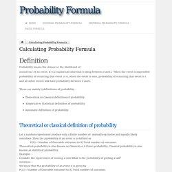 Calculating Probability Formula