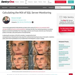 Calculating the ROI of SQL Server Monitoring