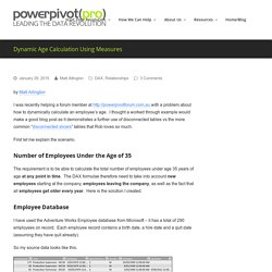 Dynamic Age Calculation Using Measures - PowerPivotPro