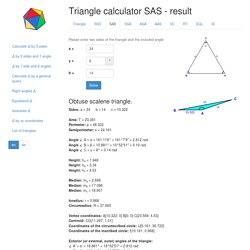 Calculation of the SAS triangle 24 8 14
