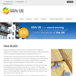 Sap Calculations and Assessment for New Build, London, Birmingham, Manchester, Kent