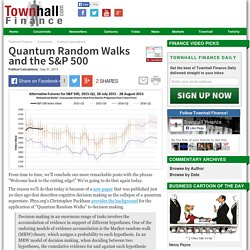 Quantum Random Walks and the S&P 500 - Political Calculations