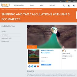 Shipping and Tax Calculations with PHP 5 Ecommerce