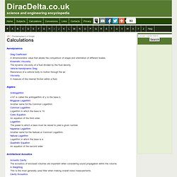 Calculations - DiracDelta Science & Engineering Encyclopedia