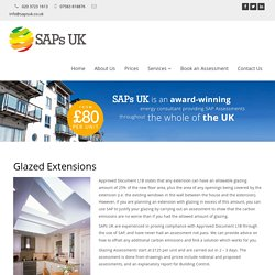 Sap Calculations for Extensions – SAPs UK