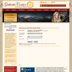 Chart Calculator - Galactic Center with Joni Patry, Vedic Astrologer, Consultant, Speaker, Writer