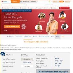 FD Calculator: Calculate Fixed Deposit Interest Rates & Maturity Amount Online - ICICI Bank