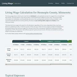 Living Wage Calculator - Living Wage Calculation for Hennepin County, Minnesota