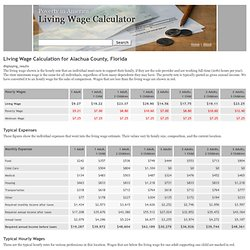 Living Wage Calculation for Alachua ...