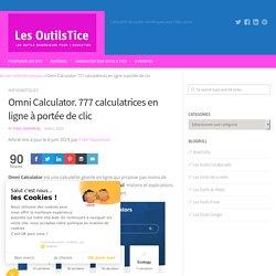 Omni Calculator. 777 calculatrices en ligne à portée de clic Les Outils Tice