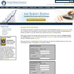 Use Sample Size Calculator- A Survey Software By The Survey Systems