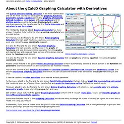 About gCalcD Graphing Calculator with Derivatives