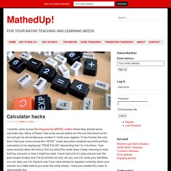 » Calculator hacks