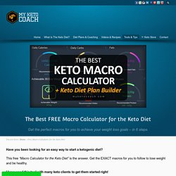 Free Macro Calculator for the Keto Diet. Instant Customized Keto Diet Plan