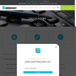 Battery Interconnect Calculator - Renogy Solar