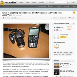 Turn a TI Graphing Calculator into an Intervalometer and Create
