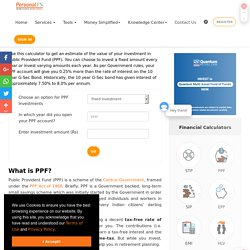 Calculate your Interest on PPF Investment Online