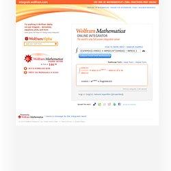 Mathematica Online Integrator
