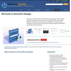 SUS Guide & Calculator Package : Measuring Usability: Measuring Usability