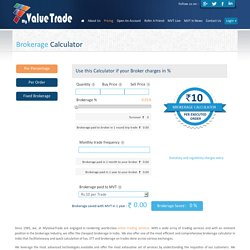 Cheapest Brokerage in India- MyValue Trade