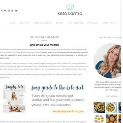 Keto Calculator - Keto Karma - Ketokamra.com - Simple and practical approach to calculate your personalized macros for the Ketogenic Diet!