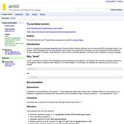 ambi - Ambi Calculator and Programming Language