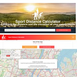 Sport Distance Calculator: calculate distance and topography of your routes mades for sport: Running, Cycling, Walking, Hiking, Rollerblading... - Track and share your routes