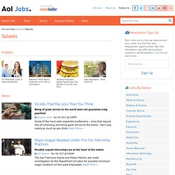 Salaries, Salary, Bonuses and Paid Benefits - AOL Find a Job