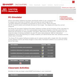 Sharp calculators - Learning Materials