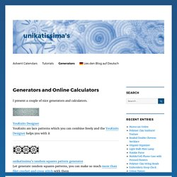 Generators and Online Calculators – unikatissima's