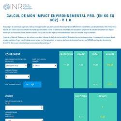 Calculatrice Impact Environnemental numérique