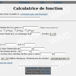 Calculatrice de fonction