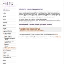 Calculatrice d'intervalle de confiance (Français) PEDro