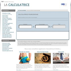 Calculatrice pourcentage