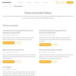 Fiches d'activités Python — NumWorks