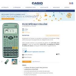 Calculatrice scientifique fx-92 Spéciale Collège - CASIO Éducation