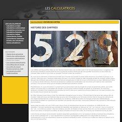 CALCULATRICES - Histoire des chiffres