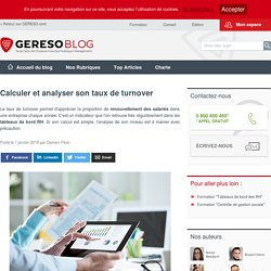 Calculer et analyser son taux de turnover - les experts RH by GERESO