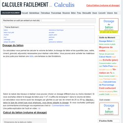 Calculer le dosage de béton