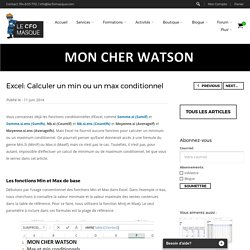 Calculer un min ou un max conditionnel