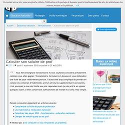 Calculer son salaire de prof - Blog de Julien Delmas