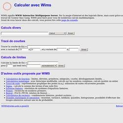 Calculer avec WIMS