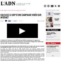 Calculez le GRP d'une campagne vidéo sur internet - ETUDE
