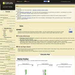 NWD - kalkulator online