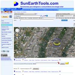 Cálculo da posição do sol no céu para cada local sobre a terra a qualquer hora do dia