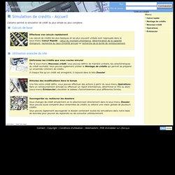 Calculs de crédits et d'amortissement en ligne [Accueil CalcAmo.org]