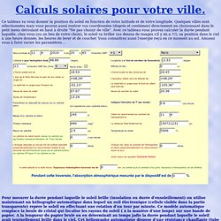 Calculs solaires