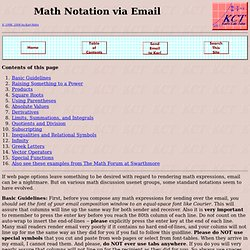 Karl's Calculus Tutor - Sending Math Notation over Email